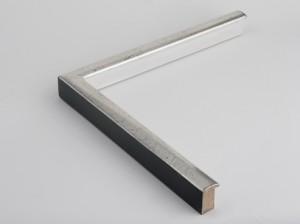 Profil 2436 Ausführung Echtsilber, schwarzes Poliment, Handgrund, Rücken farbig C13