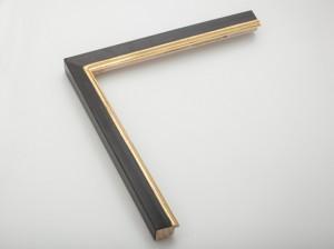 Profil 30203 Ausführung 23 Karat Gold, rotes Poliment, Rücken farbig C04
