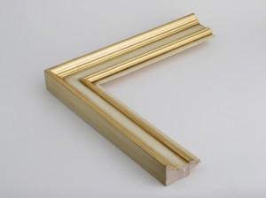 Profil 3451 mit Einleger Ausführung 23 Karat Gold, rotes Poliment, Rücken, Platte, Einleger farbig C01