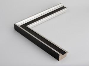 Profil 3451  Ausführung Echtsilber, rotes Poliment, Rücken, Platte farbig C09