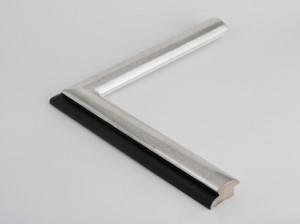 Profil 4825 Ausführung Echtsilber, schwarzes Poliment, Rücken farbig C99