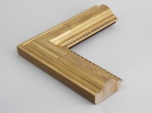 Profil 659 Ausführung 23 Karat Gold mit Gravur, Rücken farbig