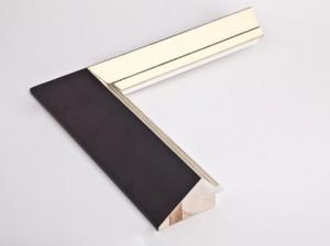 Profil 8046 Ausführung vorne 12 Karat Weißgold, blaues Poliment, Rücken farbig C09