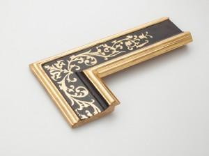Profil 900280 Ausführung 23 Karat Gold mit Radierung, Platte farbig C09 Gerne fertigen wir eine Radierung nach Ihrer Vorlage!