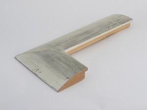Profil 9229 Ausführung komplett Echtsilber, schwarzes Poliment